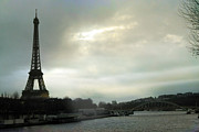 Surreal Eiffel Tower Art Photos - Paris - La Tour Eiffel - Dreamy Eiffel Tower  by Kathy Fornal