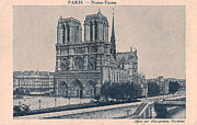 Black And White Paris Posters - Paris - Notre Dame Poster by Nomad Art And  Design