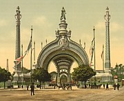 Horse And Buggy Prints - Paris 1900 Exposition Universal Grand Entrance Print by Padre Art