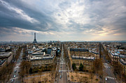 City Life Prints - Paris And Eiffel Tower At Sunset Print by Philipp Kern