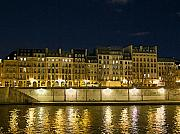 Seine Digital Art - Paris Apartments by Night II by Louise Fahy