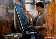Paris Artist At Work 1964 Print by Glenn McCurdy