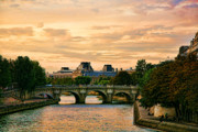 Chuck Kuhn Prints - Paris at Sunset Print by Chuck Kuhn