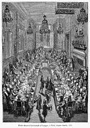 Embassy Prints - Paris: Banquet, 1707 Print by Granger
