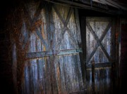 Barn Door Posters - Paris Barn Door Poster by Joyce  Kimble Smith