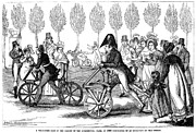 Spectator Prints - Paris: Bicycling, 1818 Print by Granger
