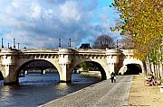 Photohogdesigns Prints - Paris Bridge 0523 Print by PhotohogDesigns