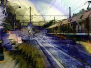 Train Mixed Media - Paris-Budapest by Francis Erevan