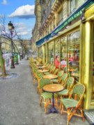 Mark Currier Art - Paris Cafe by Mark Currier