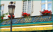Window Signs Art - Paris Cafe Sign by Carol Groenen