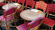 Patio Table And Chairs Posters - Paris Cafe Poster by Tony Grider