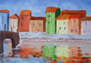 Calif. On Google Painting Originals - Paris Canal by Bob Phillips
