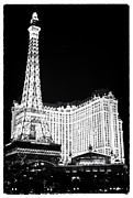 Black And White Paris Posters - Paris Casino at Night II Poster by John Rizzuto