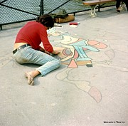 Color_image Posters - Paris Chalk Art 1964 Poster by Glenn McCurdy