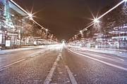 Vintage Paris Originals - Paris Champs Elysees under Christmas light  by Mao Xiangchang