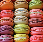 Unhealthy Eating Prints - Paris Colorful Macaroons Print by Abbietabbie