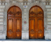 France Doors Framed Prints - Paris Doors Framed Print by Louise Heusinkveld