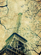 Paris Pyrography Framed Prints - Paris Eiffel Framed Print by Antonietta Pics