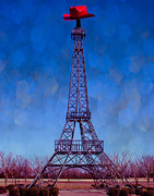 Paris Digital Art Posters - Paris Eiffel Poster by Sonja Quintero
