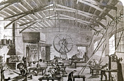 Venetian Blinds Prints - Paris: Factory, 1861 Print by Granger