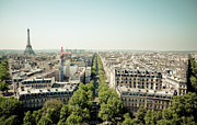 Paris Metal Prints - Paris From Arc De Trompe Metal Print by Oscar Bjarnason