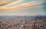 Ile De France Framed Prints - Paris From Tour Montparnasse Framed Print by Romain Villa Photographe