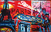 Tor Mixed Media Posters - Paris Poster by Gerald Herrmann