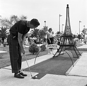 Bending Over Posters - Paris Golf Poster by Three Lions
