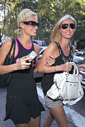 Bryant Metal Prints - Paris Hilton, Nikki Hilton Carrying Metal Print by Everett