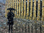 Trench Paintings - Paris in the Rain by Tom Schek