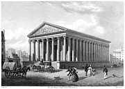 19th Century Architecture Prints - Paris: La Madeleine Print by Granger