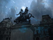 Beautiful Paris Art In Blue Posters - Paris Landmark - King Louis XIV Poster by Kathy Fornal