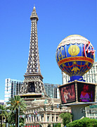 Paris Las Vegas Hotel And Casino Posters - Paris Las Vegas Hotel and Casino Poster by Mariola Bitner