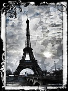 Grey Clouds Photo Posters - Paris Poster by Marianna Mills