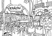 Metro Drawings Metal Prints - Paris Metro Metal Print by Katie Jurkiewicz