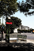 Metro Art Photo Framed Prints - Paris Metro Framed Print by Louise Heusinkveld
