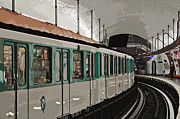 Tram Photos - Paris Metro by Mary Machare