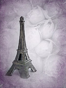 Rose Tower Posters - Paris Mon Amour Poster by Viaina