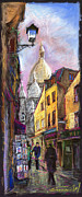 Cities Pastels Metal Prints - Paris Montmartre 2 Metal Print by Yuriy  Shevchuk