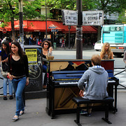 Buskers Photos - Paris Musicians 2 by Andrew Fare