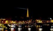 Paris Night Print by Keith Stokes