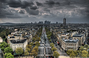 Grey Clouds Prints - Paris No. 2 Print by Ryan Wyckoff