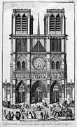 Rose Tower Posters - Paris: Notre Dame, 1748 Poster by Granger