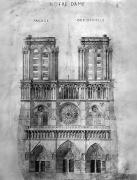 Rose Tower Posters - Paris: Notre Dame, 1848 Poster by Granger