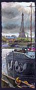 Landscapes Glass Originals - Paris Pont Alexandre III by Yuriy  Shevchuk