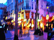 Color Digital Art Posters - Paris Quartier Latin 02 Poster by Yuriy  Shevchuk