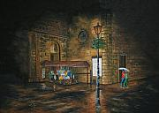 Rainy Street Painting Framed Prints - Paris Rainy Walk Framed Print by Christopher Keeler Doolin