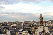 Chimneys Prints - Paris rooftops Print by Elena Elisseeva