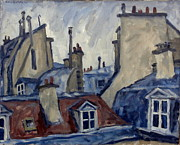 Justice Painting Originals - Paris Rooftops by Thor Wickstrom