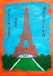 Eiffel Tower Mixed Media Metal Prints - Paris Metal Print by Sascha Meyer